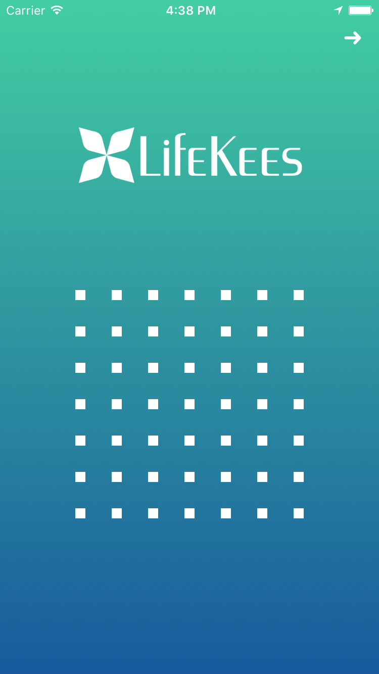 Pattern lock screen of Lifekees Password Manager app
